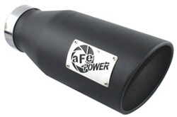 "aFe Exhaust Tip for 4"" Tailpipe - Stainless Steel - Bolt On - 6"" Outlet - Black"
