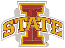 "Iowa State University Collegiate Hitch Receiver Cover for 2"" Trailer Hitches"