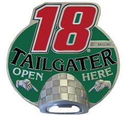 "Bobby Labonte #18 NASCAR Tailgater 2"" Trailer Hitch Cover"