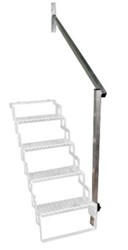 Aluminum Hand Rail for 4 Step Scissor Stair