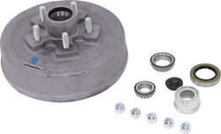 "Trailer Hub/Drum Assembly - 3,500-lb E-Z Lube Axles - 10"" Diameter - 5 on 4-1/2 - Galvanized"