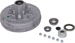 "Trailer Hub and Drum Assembly - 6,000-lb E-Z Lube Axles - 12"" - 6 on 5-1/2 - Galvanized"
