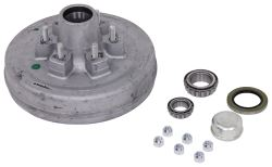 "Trailer Hub and Drum Assembly - 6,000-lb Axles - 12"" Diameter - 6 on 5-1/2 - Galvanized"