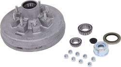 "Trailer Hub and Drum - 5,200-lb to 7,000 lb E-Z Lube Axles - 12"" - 8 on 6-1/2 - Galvanized"