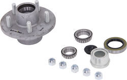 Trailer Idler Hub Assembly for 3,500-lb E-Z Lube Axles - 5 on 4-1/2 - Galvanized - AKIHUB-545-35-G-EZ-K