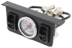 Replacement Dual Needle Gauge with 2 Paddle Switches for Air Lift Compressor Systems - 200 psi