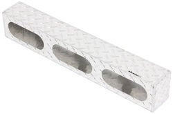 "Custer Light Mounting Box - (3) 6-1/2"" Long Oval Holes - Diamond Plate Pattern - Aluminum"