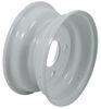 "Steel Trailer Wheel - 8"" x 3-3/4"" Rim - 4 on 4 - White"