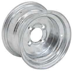 "Steel Trailer Wheel - 10"" x 6"" Rim - 4 on 4 - Galvanized Finish"