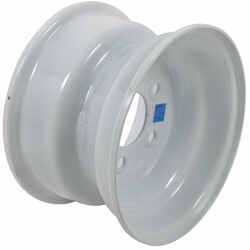 "Steel Trailer Wheel - 10"" x 6"" Rim - 5 on 4-1/2 - White"