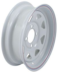 "Dexstar Steel Spoke Trailer Wheel - 12"" x 4"" Rim - 4 on 4 - White Powder Coat"