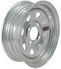 "Steel Spoke Trailer Wheel - 12"" x 4"" Rim - 4 on 4 - Galvanized Finish"