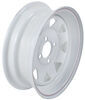 "Steel Spoke Trailer Wheel - 13"" x 4-1/2"" Rim - 4 on 4 - White Powder Coat"