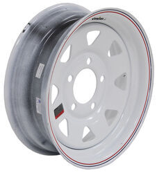 "Dexstar Steel Spoke Trailer Wheel - 13"" x 4-1/2"" Rim - 5 on 4-1/2 - White Powder Coat"