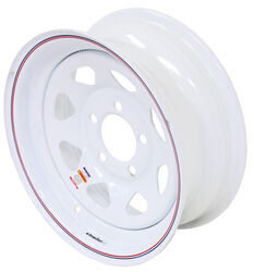 "Dexstar Steel Spoke Trailer Wheel - 14"" x 5-1/2"" Rim - 5 on 4-1/2 - White Powder Coat"