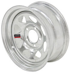 "Steel Spoke Trailer Wheel - 14"" x 6"" Rim - 5 on 4-1/2 - Galvanized Finish"