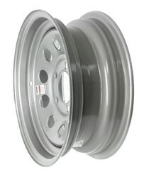 "Dexstar Steel Mini Mod Trailer Wheel - 14"" x 5-1/2"" Rim - 5 on 4-1/2 - Silver Powder Coat"