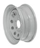 "Dexstar Steel Mini Mod Trailer Wheel - 14"" x 5-1/2"" Rim - 5 on 4-1/2 - White Powder Coat"