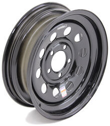 "Dexstar Steel Mini Mod Trailer Wheel - 15"" x 5"" Rim - 5 on 4-1/2 - Black Powder Coat"