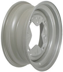 "Dexstar Vintage Steel Wheel w/ +5 mm Offset - 15"" x 6"" Rim - 4 on 9.44 - Silver"