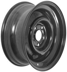 "Dexstar Conventional Steel Wheel with Offset - 15"" x 6"" Rim - 5 on 4-1/2 - Black"