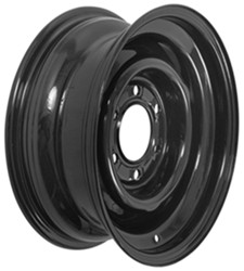 "Dexstar Conventional Steel Wheel - 15"" x 6"" Rim - 6 on 5-1/2 - Black Powder Coat"