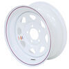 "Dexstar Steel Spoke Trailer Wheel - 15"" x 6"" Rim - 5 on 4-1/2 - White Powder Coat"