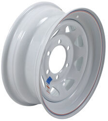 "Dexstar Steel Spoke Trailer Wheel - 15"" x 6"" Rim - 6 on 5-1/2 - White Powder Coat"