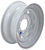 dexstar tires and wheels 15 inch 6 on 5-1/2 steel spoke trailer wheel - x rim white powder coat