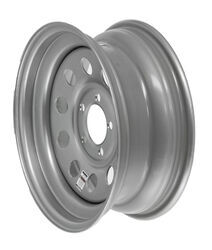 "Dexstar Steel Mini Mod Trailer Wheel - 15"" x 6"" Rim - 5 on 4-1/2 - Silver Powder Coat"