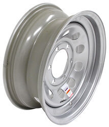 "Dexstar Steel Mini Mod Trailer Wheel - 15"" x 6"" Rim - 6 on 5-1/2 - Silver Powder Coat"