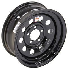 "Dexstar Steel Mini Mod Trailer Wheel - 15"" x 6"" Rim - 5 on 4-1/2 - Black"
