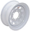 "Dexstar Steel Mini Mod Trailer Wheel - 15"" x 6"" Rim - 6 on 5-1/2 - White Powder Coat"