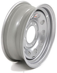"Dexstar Steel Mini Mod Trailer Wheel - 16"" x 6"" Rim - 8 on 6-1/2 - Silver Powder Coat"