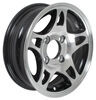 "Aluminum HWT Series S5 Trailer Wheel - 12"" x 4"" Rim - 4 on 4 - Black"