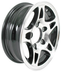 "Aluminum HWT Series S5 Split Spoke Trailer Wheel - 12"" x 4"" Rim - 5 on 4-1/2 - Black"
