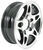 hwt tires and wheels 12 inch 5 on 4-1/2 aluminum series s5 split spoke trailer wheel - x 4 rim black