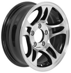 "Aluminum Hi-Spec Series S5 Trailer Wheel - 14"" x 5-1/2"" Rim - 5 on 4-1/2 - Black"