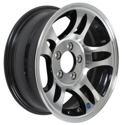 "Aluminum Hi-Spec Series S5 Trailer Wheel - 15"" x 6"" Rim - 5 on 4-1/2 - Black"