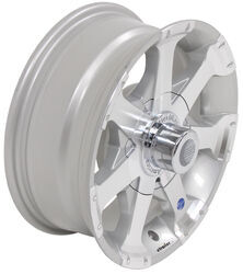 "Aluminum Hi-Spec Series 06 Trailer Wheel - 15"" x 6"" Rim - 6 on 5-1/2 - Silver"