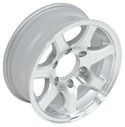 "Aluminum Sendel Series T02 Machined Trailer Wheel - 15"" x 6"" Rim - 6 on 5-1/2"