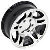 "Aluminum HWT Series S5 Trailer Wheel - 16"" x 6-1/2"" Rim - 6 on 5-1/2 - Black"