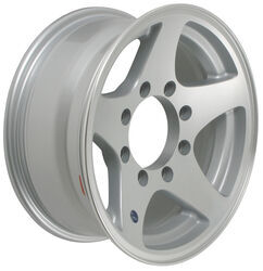 "Aluminum HWT Star Mag Trailer Wheel with +5 mm Offset - 16"" x 7"" Rim - 8 on 6-1/2"
