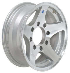"Aluminum HWT Star Mag Trailer Wheel with -8 mm Offset - 16"" x 6"" Rim - 8 on 6-1/2"