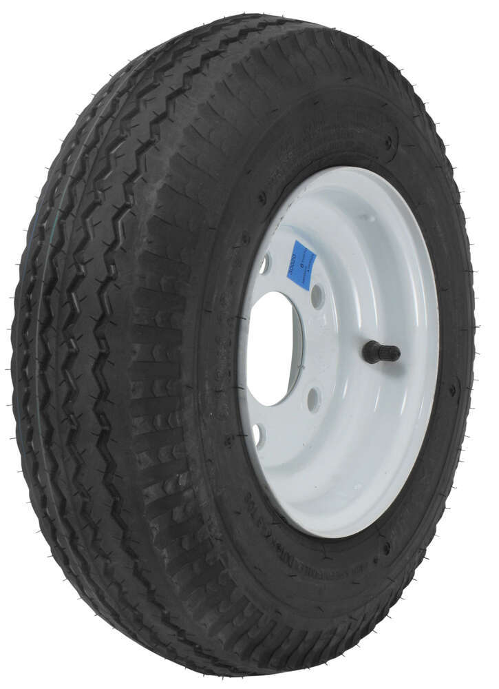 """The Wheel Of Fortune As Advice: Kenda 4.80/4.00-8 Bias Trailer Tire With 8"""" White Wheel"""
