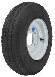 "Kenda 4.80/4.00-8 Bias Trailer Tire with 8"" White Wheel - 5 on 4-1/2 - Load Range B"
