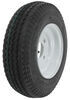 "Kenda 4.80/4.00-8 Bias Trailer Tire with 8"" White Wheel - 4 on 4 - Load Range C"