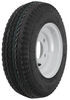 "Kenda 4.80/4.00-8 Bias Trailer Tire with 8"" White Wheel - 5 on 4-1/2 - Load Range C"