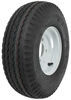 "Kenda 5.70-8 Bias Trailer Tire with 8"" White Wheel - 4 on 4 - Load Range C"
