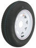 "Kenda 4.80-12 Bias Trailer Tire with 12"" White Wheel - 5 on 4-1/2 - Load Range B"